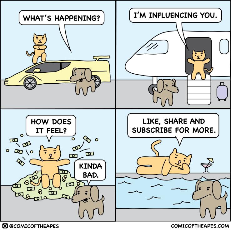 influencer comic