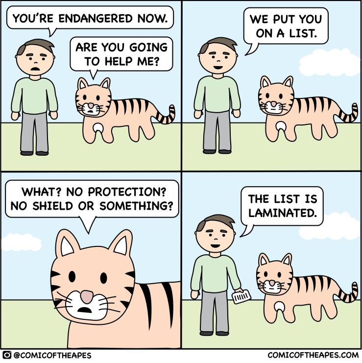 Endangered tiger comic